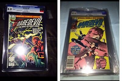 DAREDEVIL # 168 CGC 8.5 FIRST APPEARANCE OF ELEKTRA WHITE PAGES + Death Of HOT!!