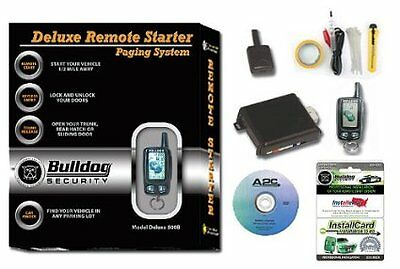 Bulldog Security Deluxe500B Remote Starter with Keyless Entry, LCD Remote