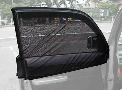 Auto Anti Window Mosquito Net Front Driver Passenger Window Camping Outdoor