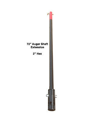 "72"" Auger Bit Extension - 2"" Hex Auger Extension - 6 Foot"