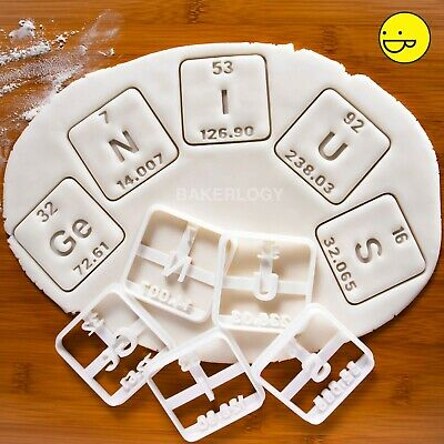 GeNIUS periodic table element cookie cutter | chemistry science geeky biscuit