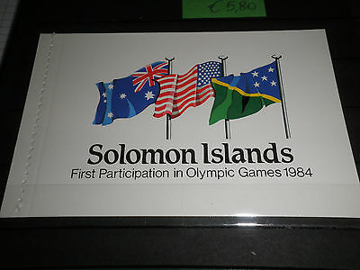 "Solomon Isl. 1984 ""olympics"" ** Booklet (Cat.7)"