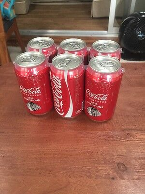 2015 CHICAGO BLACKHAWKS STANLEY CUP CHAMPIONS 12 OZ Coke COCA COLA CAN Full