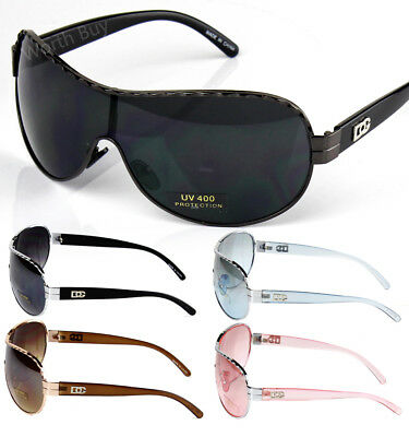 New DG Eyewear Men Womens Designer Shield Wrap Sunglasses Shade Fashion One Lens
