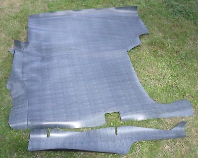 56 57 58 59 60 61 62-64 Studebaker Hawk Coupe Rubber Trunk Mat Gray Houndstooth