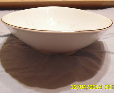 Celebrity Fine China, Bowl, Bridal Rose pattern 5895, White, Serving, Salad