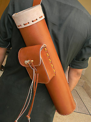 High Quality vegetable Leather Quiver  longbow TRADITIONAL QUIVER-----