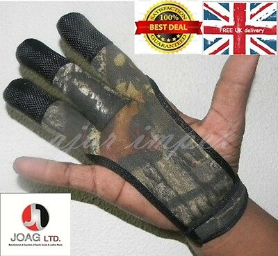 Archers Camouflage Shooting 3 Fingers Glove Hunting Shooting Leather Free Gloves