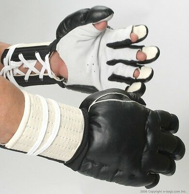 Playwell Kenpo Gloves Leather Bruce Lee Martial Arts Grappling Kempo Mitts