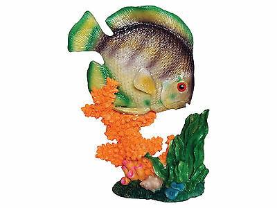 Fish with Coral Base Aquarium Ornament Fish Tank Decoration