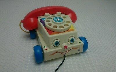 Fisher Price 2009 Chatter Rotary Phone Pull Toy