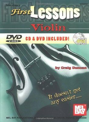 NEW Mel Bay's First Lessons Violin by Craig Duncan