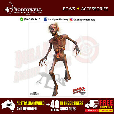 FULL COLOUR ZOMBIE DURAMESH TARGET FACE ARCHERY FREE registered express post