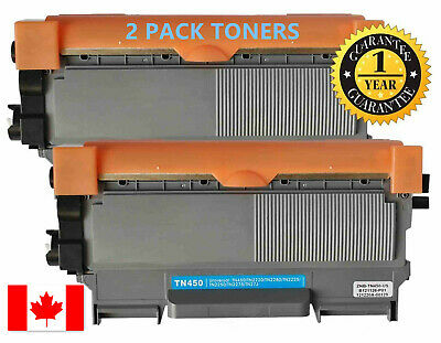 2pk Toner for Brother TN450 MFC-7240 MFC-7360N MFC-7365DN MFC-7460DN MFC-7860DW