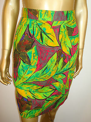 VIBRANT Vintage HIGH WAIST Pencil MINI Dress SKIRT ~ PARIS ~
