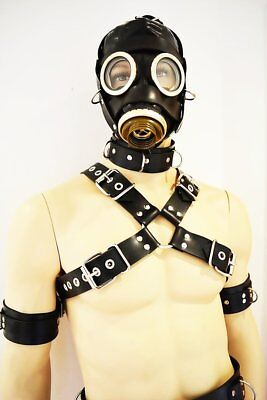 BlackRuBB Latex Brustharness L-XL Rubber Fesseln Bondage Harness Anzug Maske