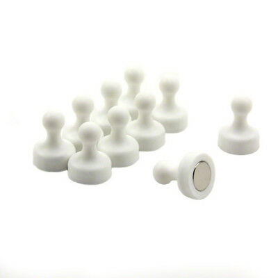 High Power White Skittle Magnets For Glass Boards (19mm dia x 25mm tall) (x10)