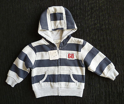 BABY CLOTHES BOY 6-9m EARLY DAYS STRIPE JACKET HOOD ZIP 2nd item post-free! NEW!