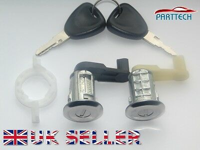 RENAULT MEGANE SCENIC MK1 1996-2003 DOOR LOCK FRONT LEFT and RIGHT with 2 KEYS