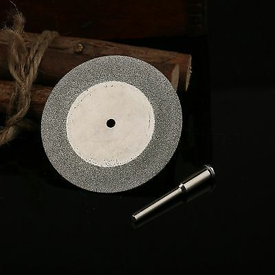 50mm Diamond Grinding Blade Cutting Cut Off Disc Wheel & Mandrel for Rotary Tool