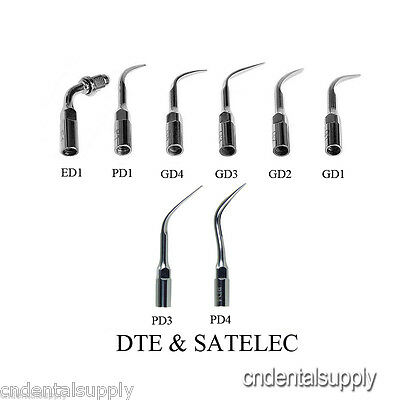 8 Dental Ultrasonic Scaling Perio Endo Tips Fit DTE Satelec Scaler Handpiece