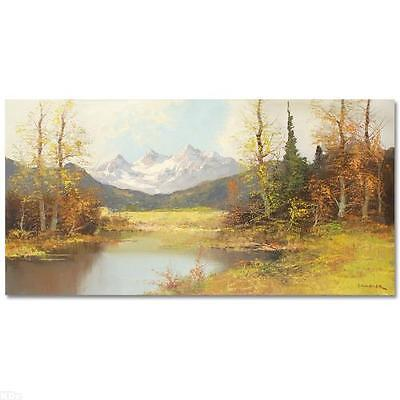 "ORIGINAL Painting on Canvas Hand Signed by Grabner Beautiful Landscapes 48""x24"""