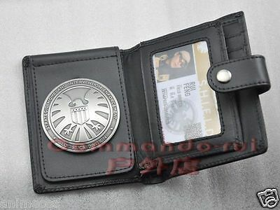 Agents of shield S.H.I.E.L.D. Metal SHIELD Badge Pin &ID Holder Wallet+Free card