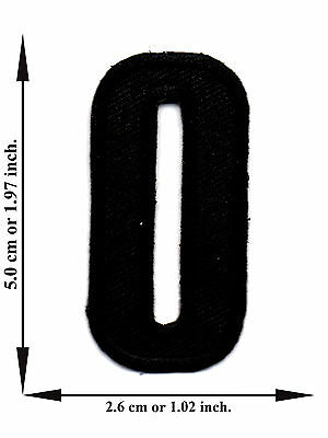 Alphabet O Black Color English Letter Applique Iron on Patch Sew For T-shirt