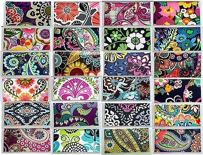 Vera Bradley Fabric Vinyl CheckBook Cover W+W/O Persnalizd Monogram Check book 1