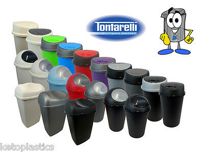 Tontarelli Kitchen / Office Bin - All Colours, Touch Top, Bullet & Swings