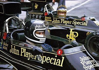 Jackie Ickx and Ronnie Peterson JPS F1 Team Poster