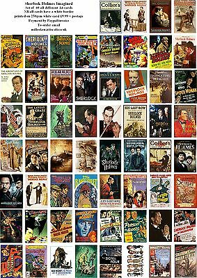 Sherlock Holmes Imagined  -60 All Different  A6 Art Cards Images Of Super Sleuth