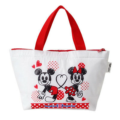 Small Mickey and Minnie Design Insulated Tote Thermal Bag Lunch Bag