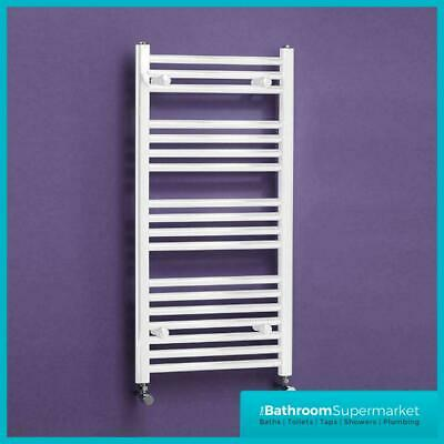 400mm White Radiator Straight Heated Bathroom Towel Rail Rad Radiator