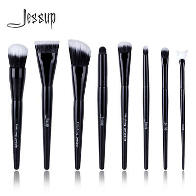 Jessup 8pcs Makeup Brushes Set Kabuki Foundation Eyeshadow Duo Pro Brushes Tools