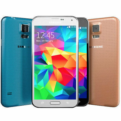 Samsung Galaxy S5 SM-G900V 16GB Verizon + GSM Unlocked Black White Gold Blue