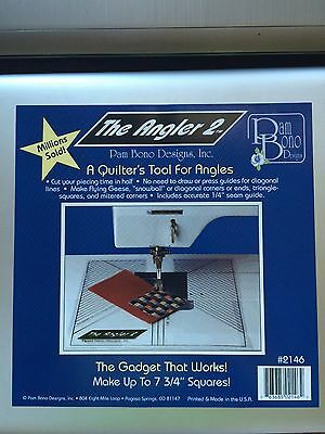 """Lot of 10 """"The Angler 2"""" Quilter's Ruler Tool 7 3/4"""" Square by Pam Bono Designs"""