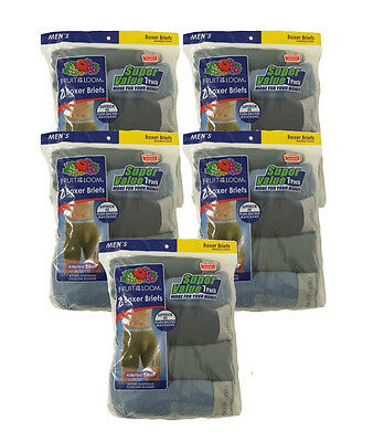 Wholesale Lot Men Fruit of the Loom Boxer Briefs Assorted Colors Small 35 Pairs!