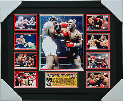 Mike Tyson Signed And  Framed Memorabilia