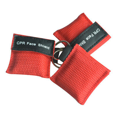3pcs CPR MASK KEYCHAIN Artificial Respiration CPR FACE SHIELD KIT FIRST AID