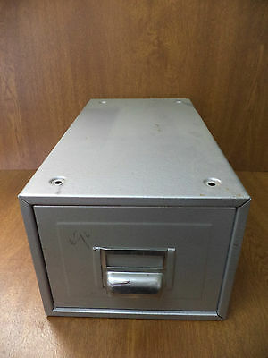 Small Industrial Metal Sliding Filing Cabinet with Fixings - Kingsway
