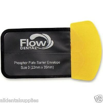 Flow X-ray Safe 'n' Sure Deluxe Phosphor Plate Barrier Envelopes Size 0 300/box