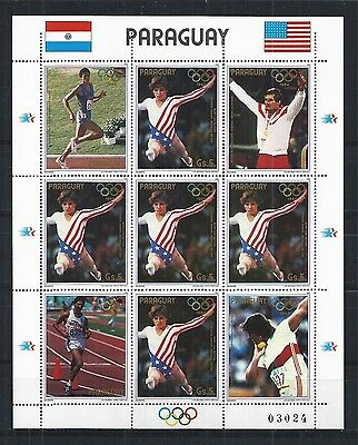 Paraguay 1984 Mini Sheet ** Olympic Games