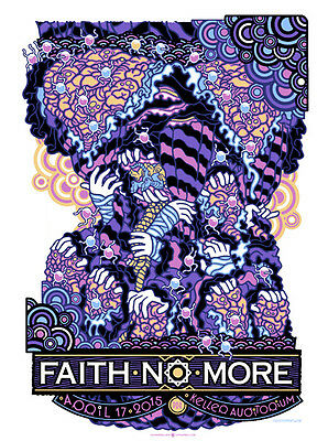 FAITH NO MORE poster Portland 2015 by Guy Burwell