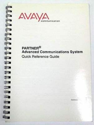Avaya PARTNER Advanced Communications System Quick Reference Guide Issue 2 2001