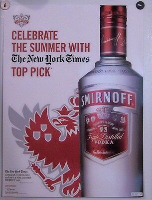 New Lot of 2 Store Display Paper Posters Ad Print  Smirnoff Summer