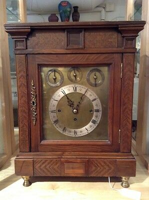 Massive Triple Fusee Mantle Clock w/ bells and gong, cleaned and reconditioned!