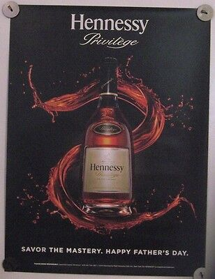 New Lot of 2 Store Display Paper Posters Decal  HENNESSY Crafting The Future