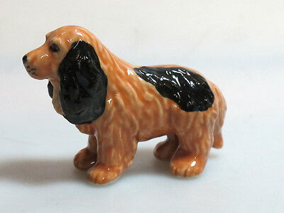 Handpainted Miniatures Collectible Ceramic Cocker Dog FIGURINE Animals
