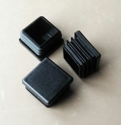 30mmx30mm Square Plastic End Caps Blanking Plugs Tube Box Section Inserts/ Black
